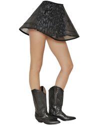 Fausto Puglisi Black Transparent Nylon Mesh Wired Skirt