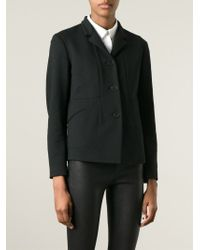 Jil Sander - Black Single-Breasted Jacket - Lyst