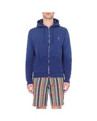 Ralph Lauren | Blue Cotton-jersey Hoody for Men | Lyst