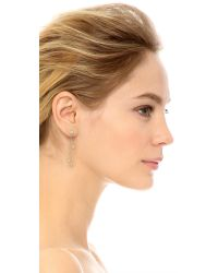 Shashi - Metallic Dangle Earrings - Gold/clear - Lyst