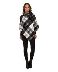 Lauren by Ralph Lauren | Black Oversized Check Bridle Buckle Poncho | Lyst
