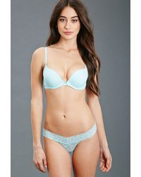 Forever 21 | Blue Lace-paneled Push-up Bra | Lyst