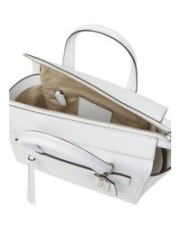 COACH Riley White Leather Cross-Body Bag