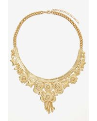Nasty Gal | Metallic Rockefeller Collar Necklace | Lyst
