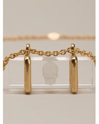 Alexander McQueen - Metallic Skull Pendant Necklace - Lyst