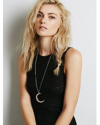 Free People - Pink Moon Necklace - Lyst