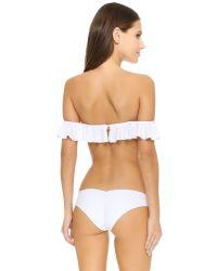 Tori Praver Swimwear - White Tulum Bikini Top - Lyst