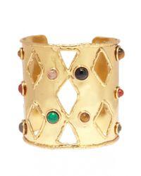 Sylvia Toledano | Metallic Openwork Diamond Cuff | Lyst