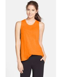 Alo Yoga | Orange 'breeze' Tank | Lyst