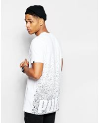 PUMA White Longline T-shirt With Back Print for men