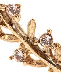 Oscar de la Renta - Metallic Gold-plated Crystal Ear Cuff And Stud Earring - Lyst