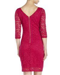 Laundry by Shelli Segal | Pink Lace Sheath Dress | Lyst