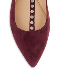 Belle By Sigerson Morrison - Purple Valeda Suede Studded Flats - Lyst
