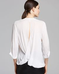 Helmut Lang White Shirt Lush Voile Twist Back
