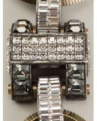 Lanvin | Metallic Embellished Necklace | Lyst