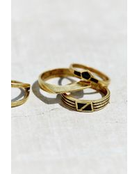 Urban Outfitters | Metallic Cityscape Ring Set | Lyst