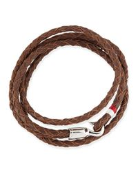 Miansai | Brown Braided Sterling Silver Trice Bracelet for Men | Lyst
