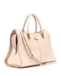 Tod's Natural Sella Shopping Large Leather Shoulder Bag