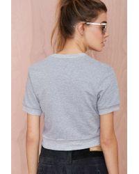 Nasty Gal | Gray Barber Fun Size Crop Sweatshirt | Lyst