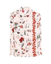 Tory Burch | Pink Printed Silk Shirt | Lyst