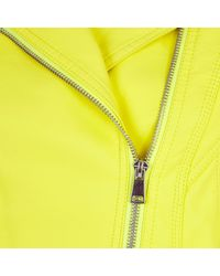 River Island Bright Yellow Zipped Collar Biker Jacket