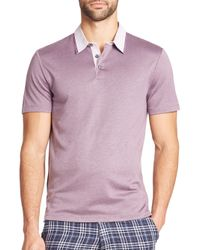 Saks Fifth Avenue | Purple Modal Polo for Men | Lyst