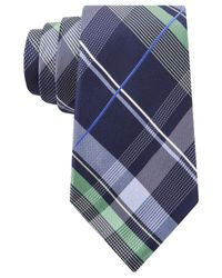 Michael Kors - Blue Michael Twin Tone Plaid Tie for Men - Lyst