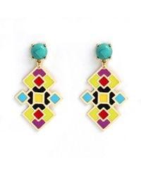 Noir Jewelry | Metallic Manuela Drop Earrings | Lyst