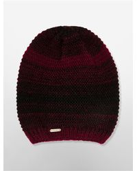 Calvin Klein - Red White Label Marled Knit Beanie - Lyst