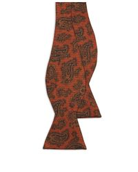 Brooks Brothers | Orange Ancient Madder Paisley Bow Tie for Men | Lyst