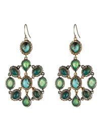 Alexis Bittar | Metallic Turquoise Mosaic Earrings | Lyst