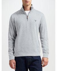 GANT - Gray Sacker Half-zip Jersey Top for Men - Lyst
