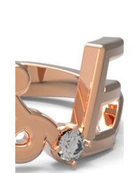 Alison Lou - Pink Customizable White Diamond Mrs. Ring - Lyst