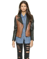 Muubaa - Brown Tekana Contrast Jacket - Tan/Black - Lyst