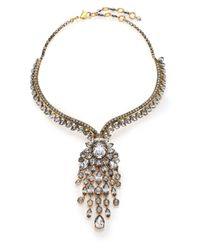 Erickson Beamon | Metallic Fringe Element Crystal Bib Necklace | Lyst