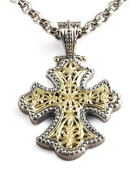 Konstantino - Metallic Flared Cross Pendant - Lyst