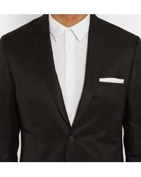 Calvin Klein - Black Crosby Linen And Silk-Blend Suit for Men - Lyst