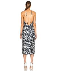 Josh Goot White Side Bustle Dress