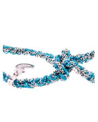 Carolina Bucci | Blue Gold & Silk Braided Lucky Bracelet | Lyst
