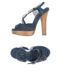 Dolce & Gabbana | Blue Sandals | Lyst