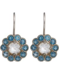Cathy Waterman | Blue Floral Drop Earrings | Lyst