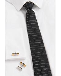 HUGO Metallic 'e-memories' | Dual-tone Brass Cufflinks for men
