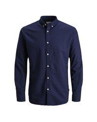 Jack & Jones Blue 'summer' Long Sleeved Shirt for men