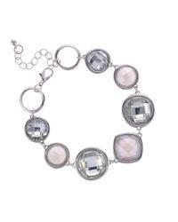 J By Jasper Conran Metallic Designer Multi Shape Crystal Bracelet