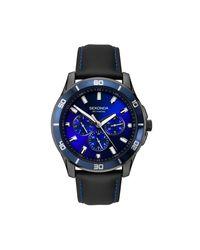 Sekonda Black 1634.27 Men's Chronograph Leather Strap Watch for men