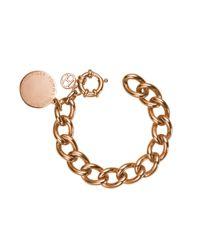 Tommy Hilfiger - Metallic Ladies Stainless Steel, Rose Gold Ip Medallion Bracelet2700475 - Lyst