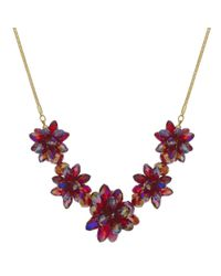 J By Jasper Conran - Red Designer Beaded Flower Necklace - Lyst