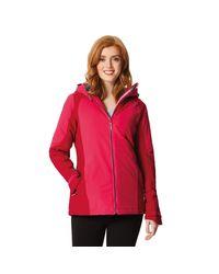 Regatta Red Pink 'corvelle' Waterproof Hooded Jacket