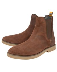 Frank Wright Brown Brunette 'dutch' Men's Casual Chelsea Boots for men