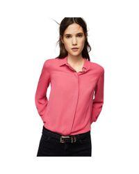 Mango Pink 'basic' Long Sleeve Shirt